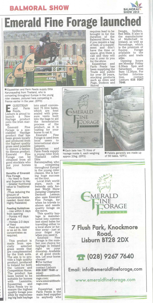 Media Exposure: Emerald Fine Forage in Farm Week - May 8th 2014